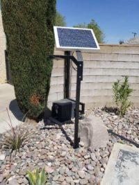 solar panel driveway gate